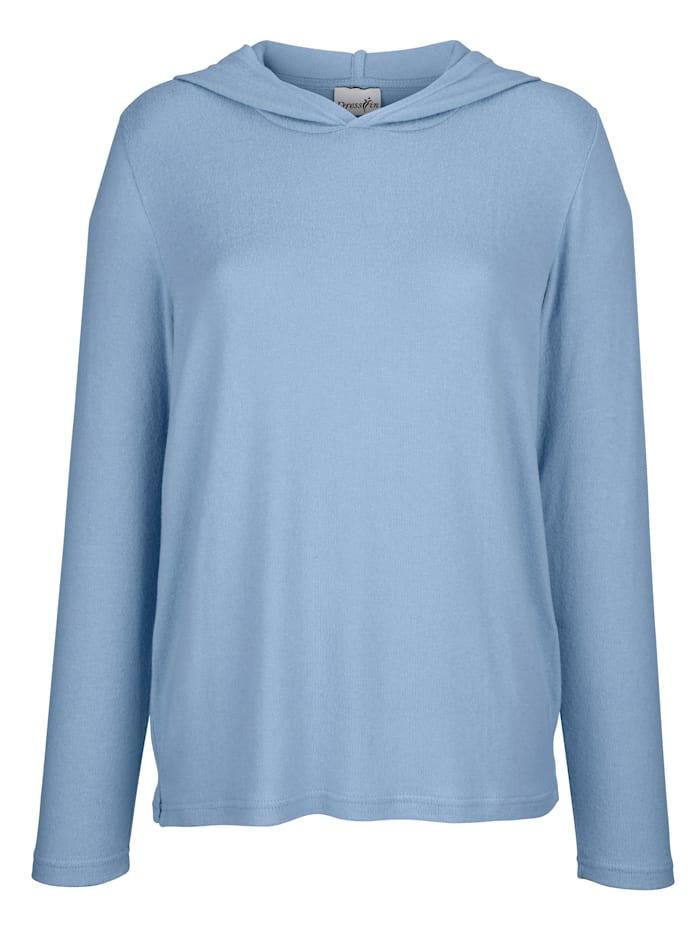 Dress In Shirt mit Kapuze, Hellblau