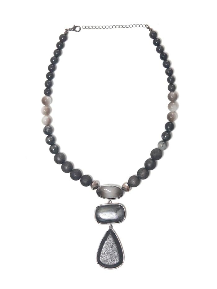 Collezione Alessandro Kurze Kette Helene mit unterschiedlichen Perlen, schwarz