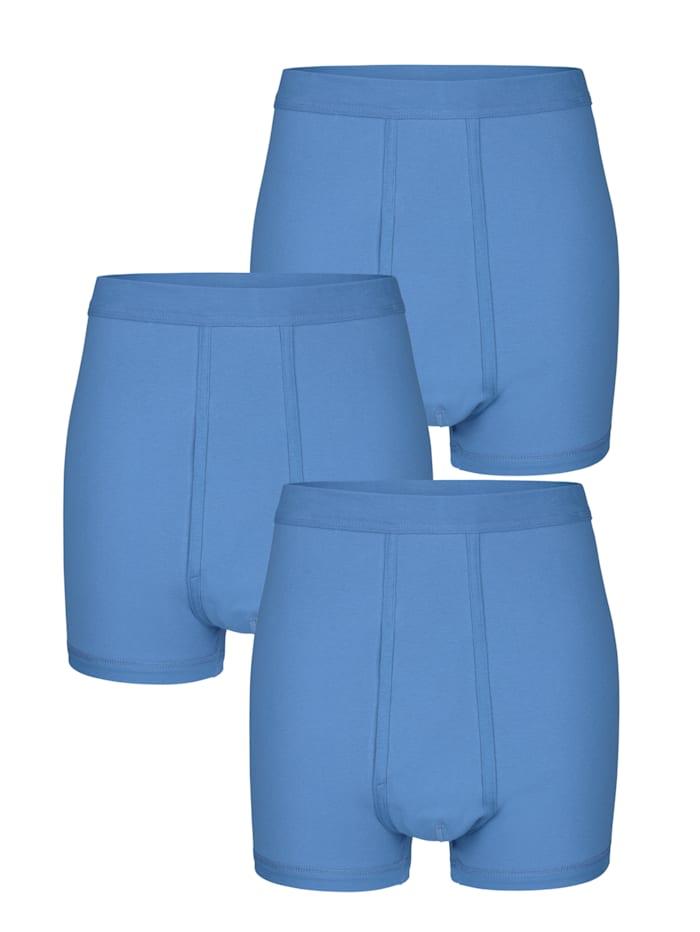 HERMKO Unterhosen - 3er Pack mit Eingriff 3er Pack, 3x bleu
