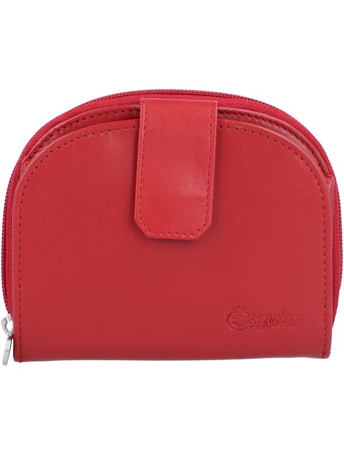 Esquire New Silk Geldbörse Leder 10,5 cm, rot