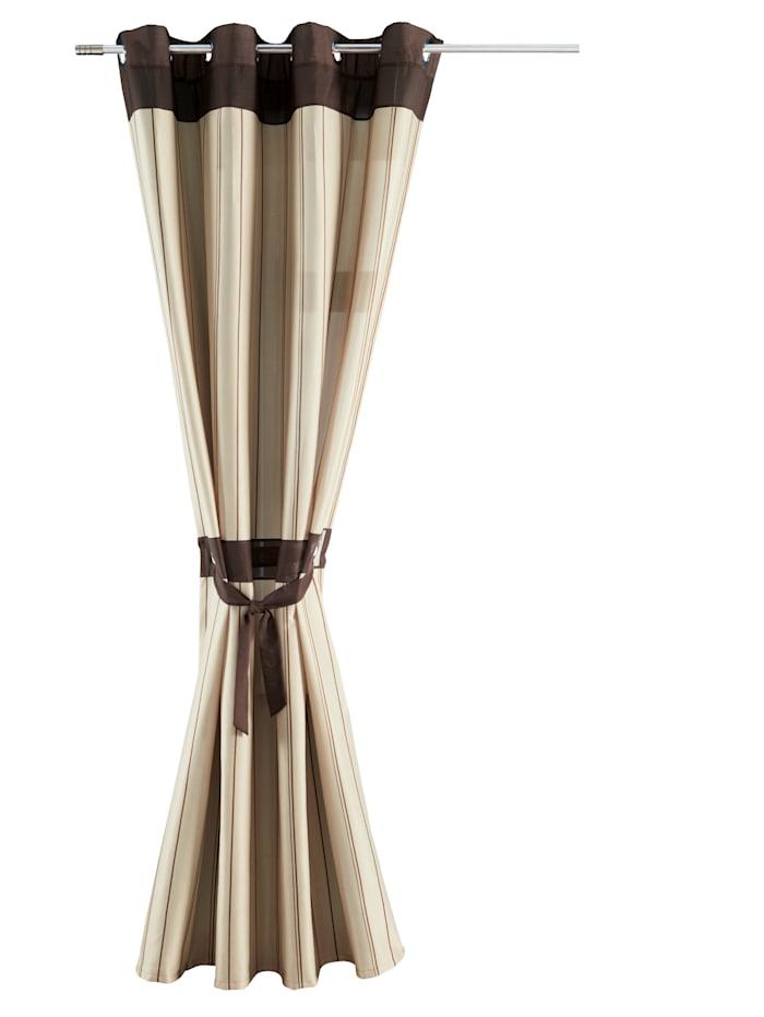 Webschatz Sidegardiner i 4 deler, brun