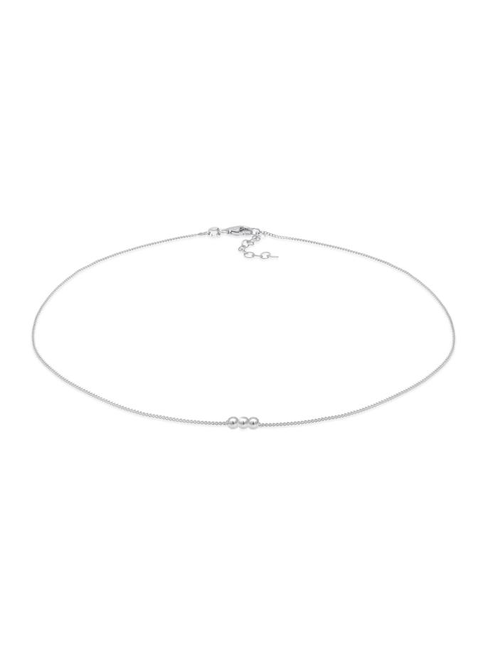 Elli Halskette Choker Ball Kugel Geo 925 Silber, Silber