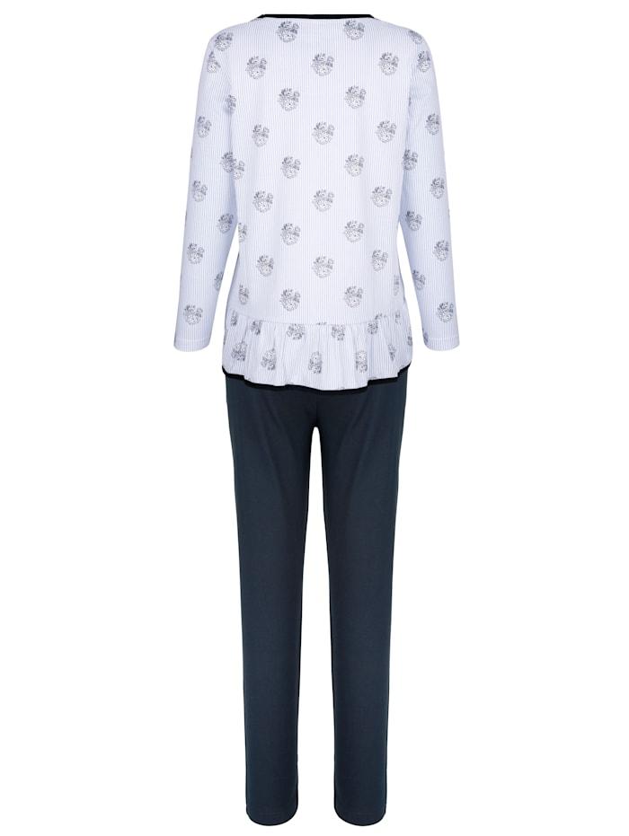 Pyjamas med söta volangkanter