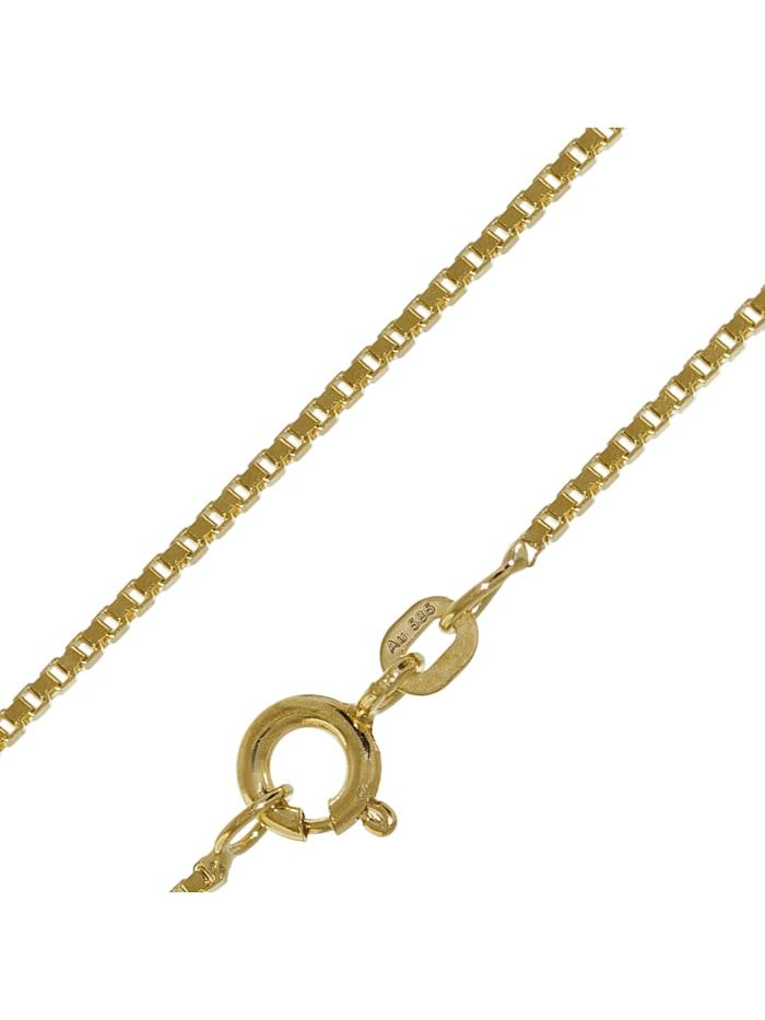 trendor Halskette für Damen und Herren 585 Gold (14 K) Venezianer Kette, Goldfarben