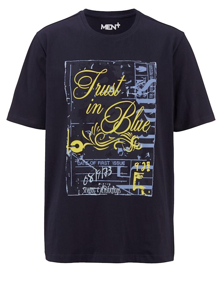 Men Plus T-shirt av 100% bomull, Marinblå