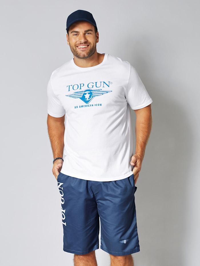 Top Gun T-Shirt aus reiner Baumwolle, Weiß