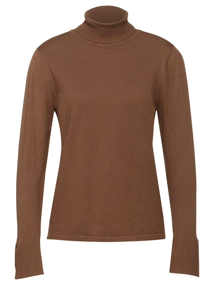 Street One Pullover mit Rollkragen, nut brown