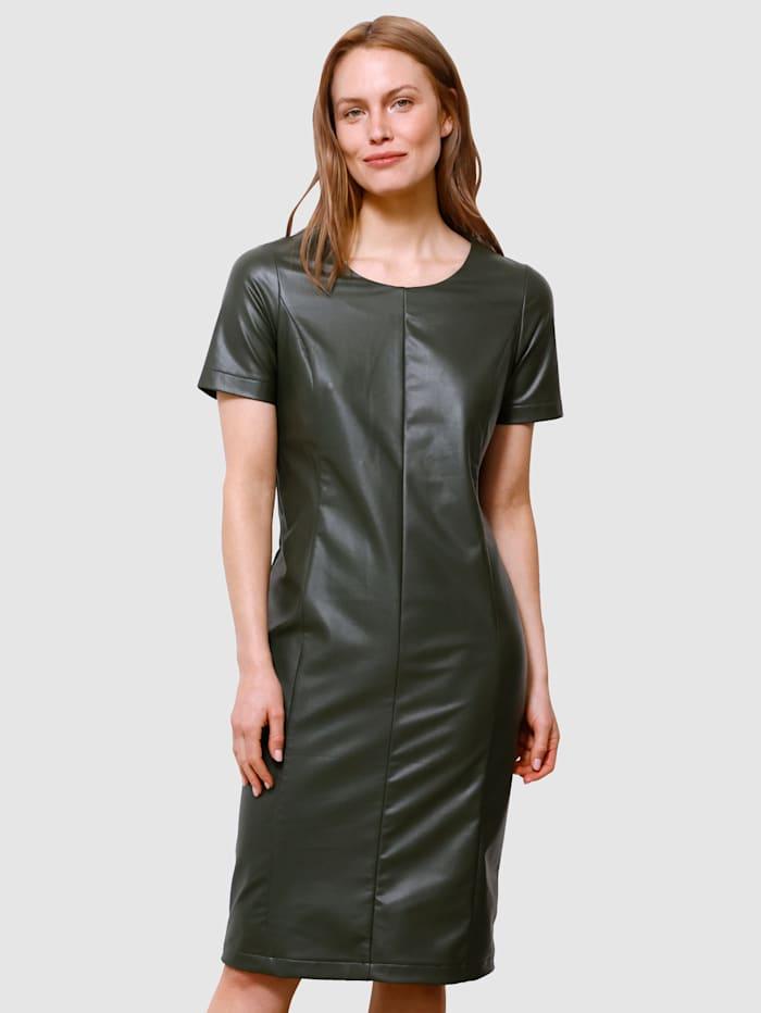 Laura Kent Klänning i trendig design, Mörkgrön
