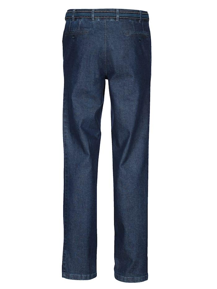 Jeans met riem
