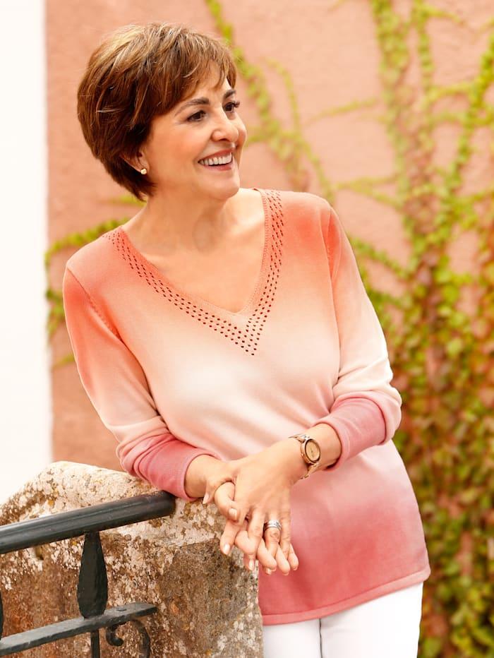 Paola Trui met kleurverloop, Apricot/Ecru
