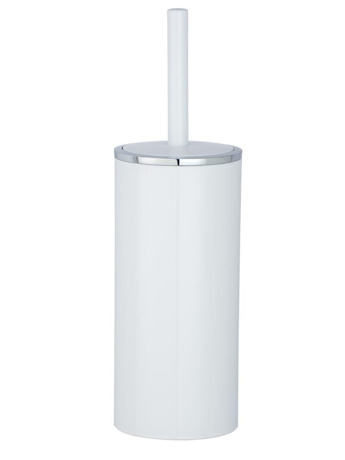 Wenko WC-Garnitur Inca White, hochwertiger Kunststoff, Weiß, Chrom
