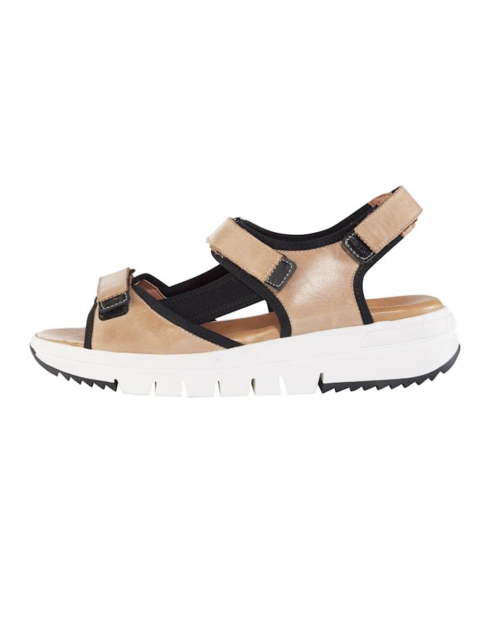 Sandale mit verstellbaren Klettverschlüssen
