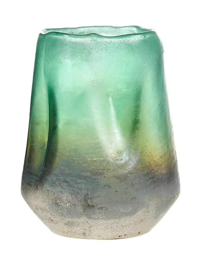 IMPRESSIONEN living Vase, grün/grau/goldfarben