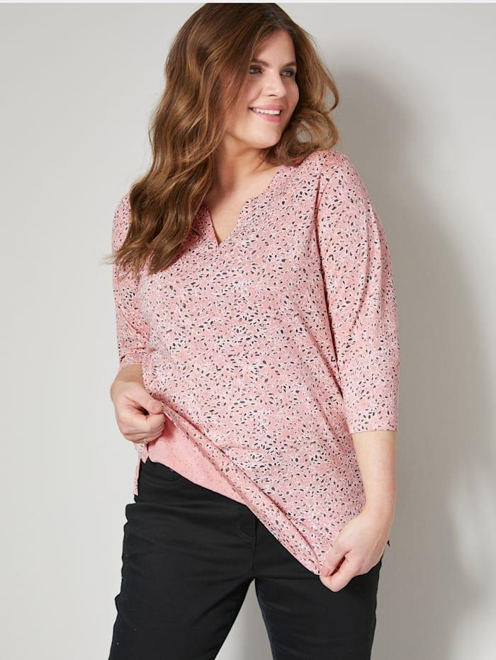 Janet & Joyce Shirt mit floralem Druck, Rosé/Khaki