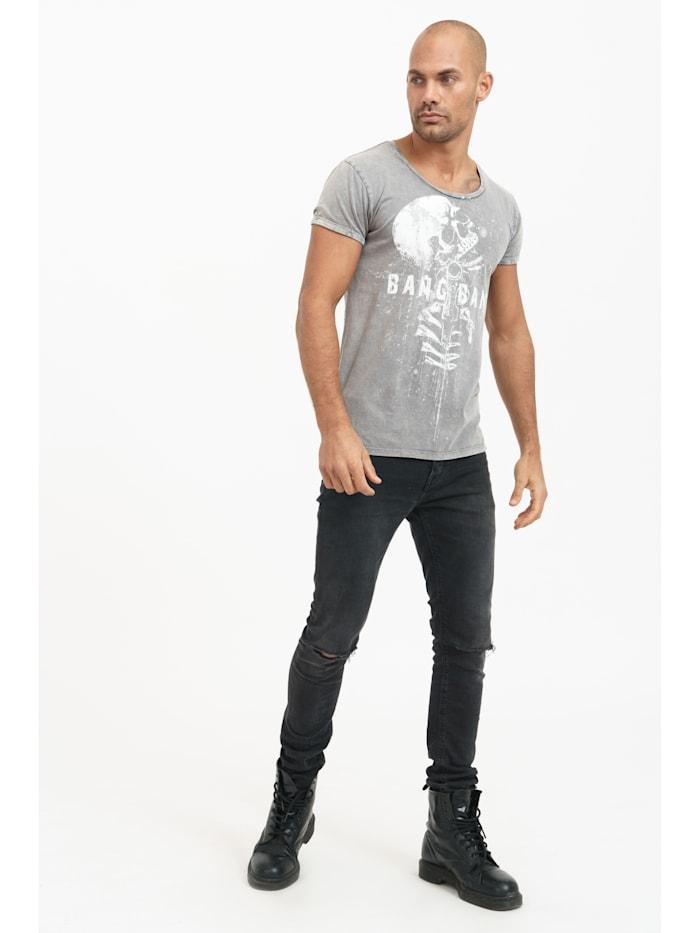 T-Shirt Clay mit coolem Totenkopf-Print