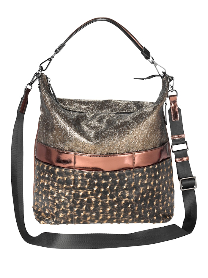 BOGY´S Brooklyn NY Handbag with different embellishments, Bronze colour