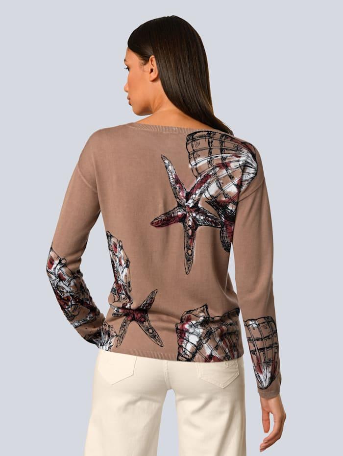 Pullover mit schönem Muscheldruck