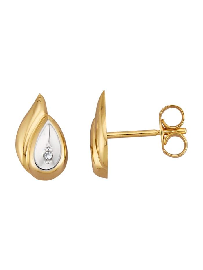 Örhängen med diamanter, Guldfärgad