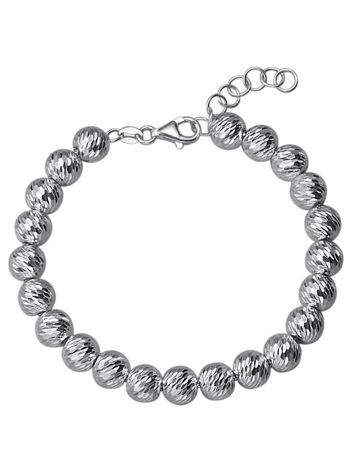 AMY VERMONT Kugelarmband in Silber 925, Weiß
