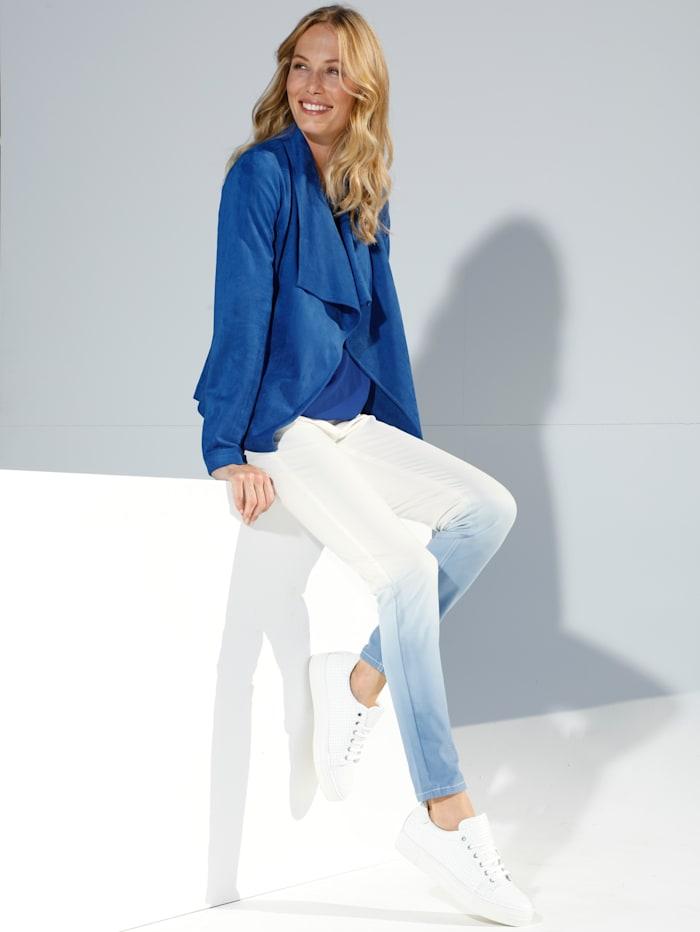 AMY VERMONT Jeans med fargegradering, Hvit/Blå