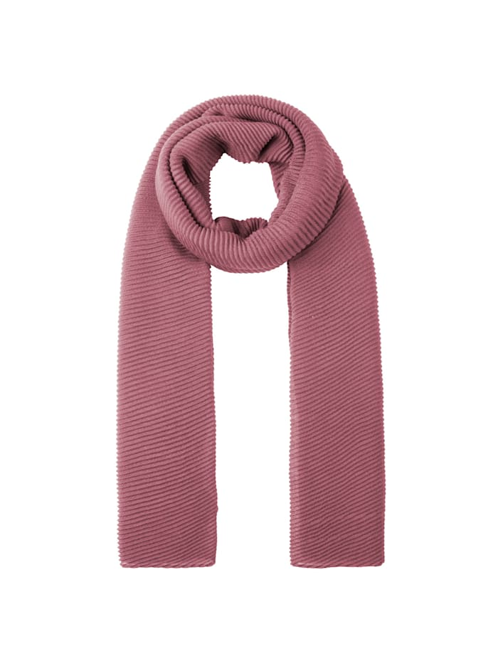Codello Ultrasofter Plissee-Schal aus recyceltem Polyester, light rose