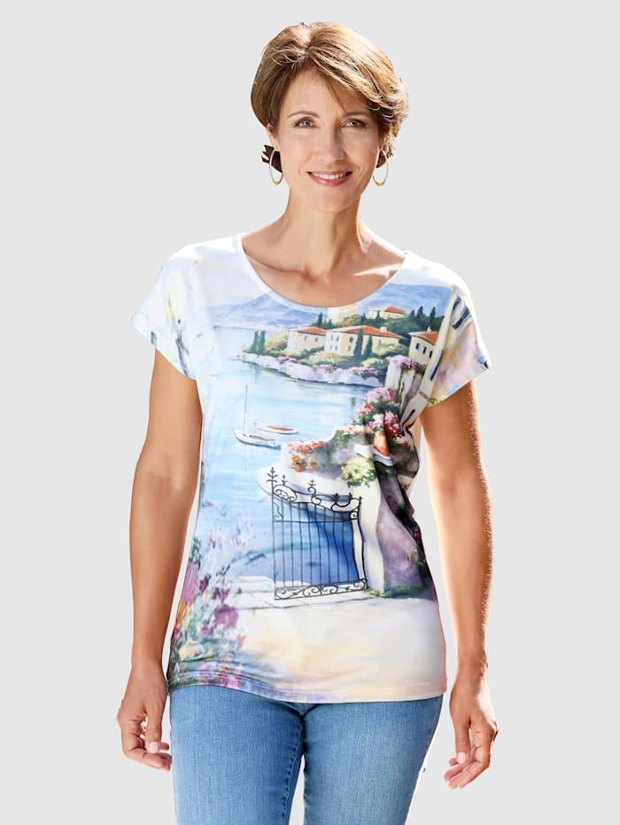 Paola T-shirt à motif imprimé, Multicolore