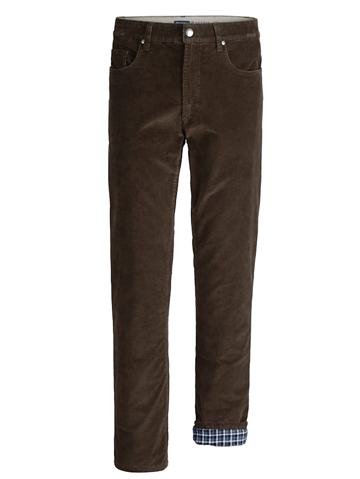 BABISTA Pantalon thermorégulateur en velours côtelé et doublure bien chaude, Marron