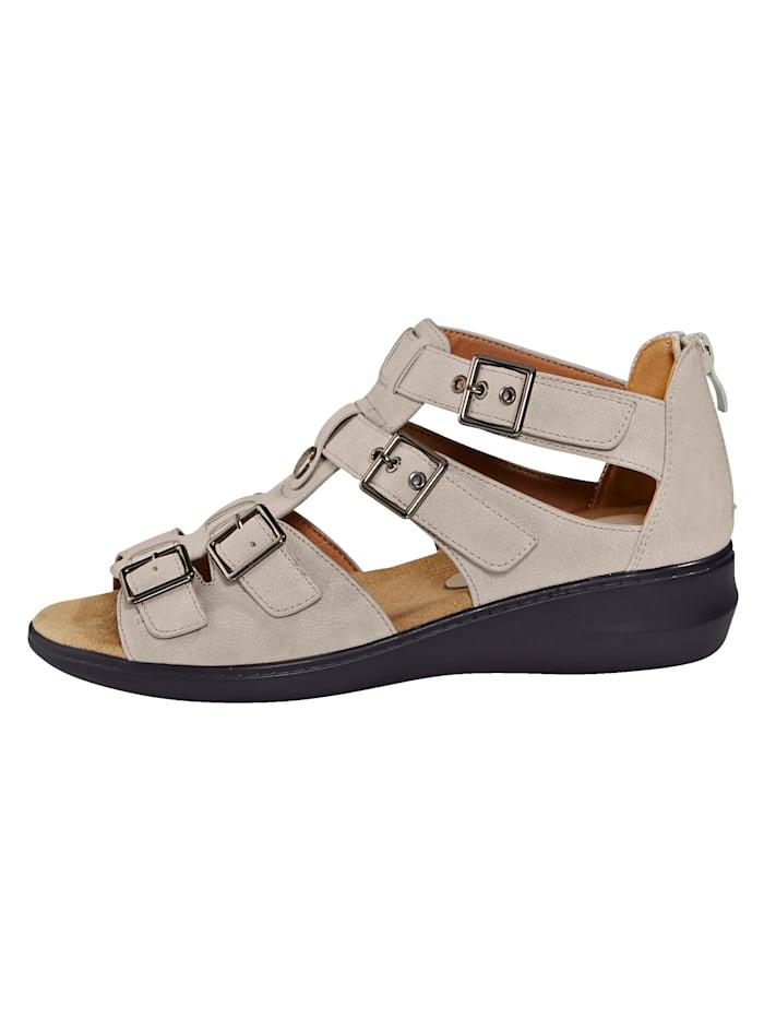 Sandaler med borrelåsremmer