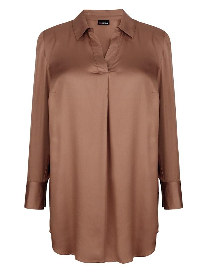 Tunika mit Hemdkragen