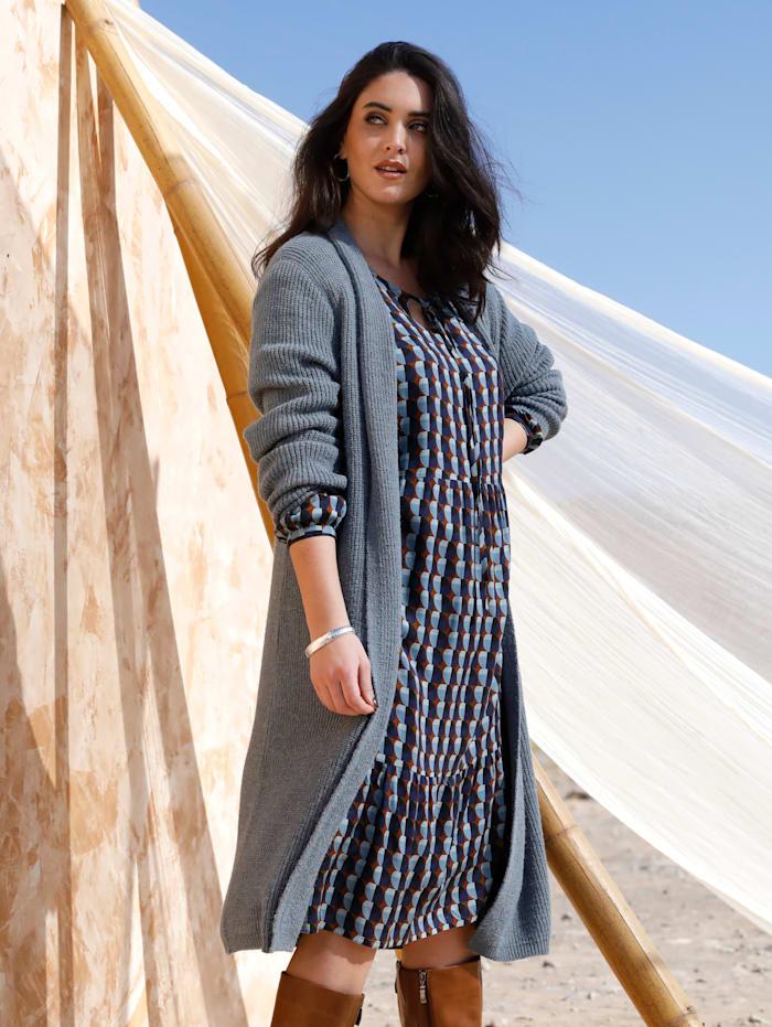 MIAMODA Vest met sjaalkraag, Lichtblauw