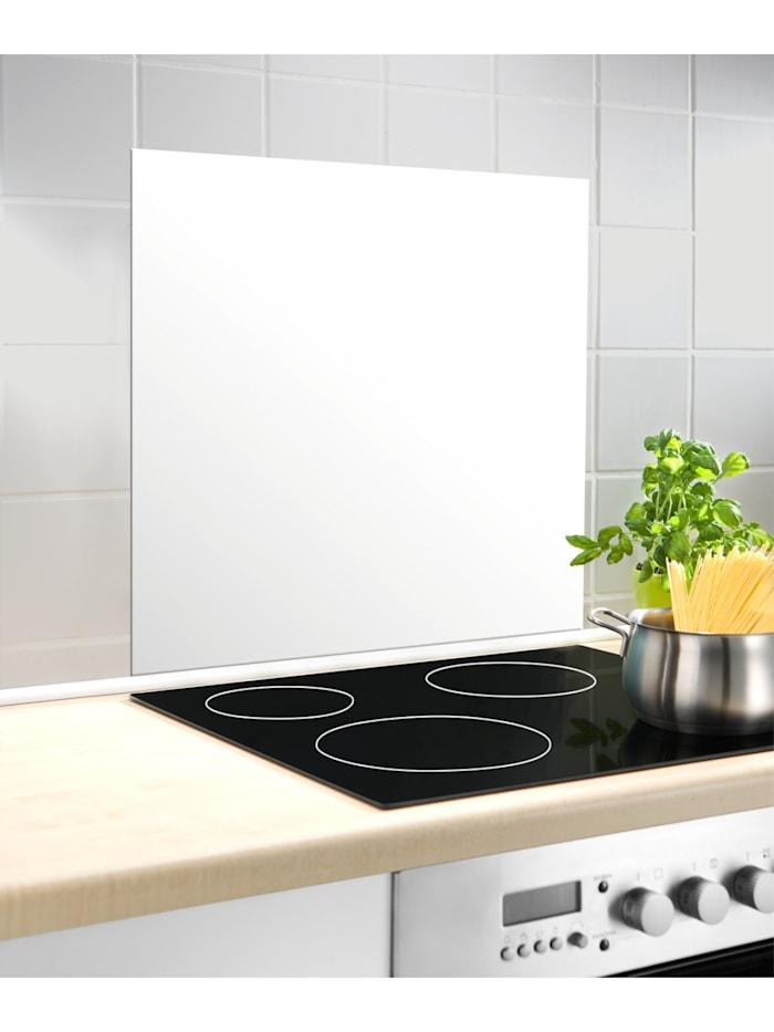 Wenko Glasrückwand Weiß 60 x 70 cm, Platte: Weiß