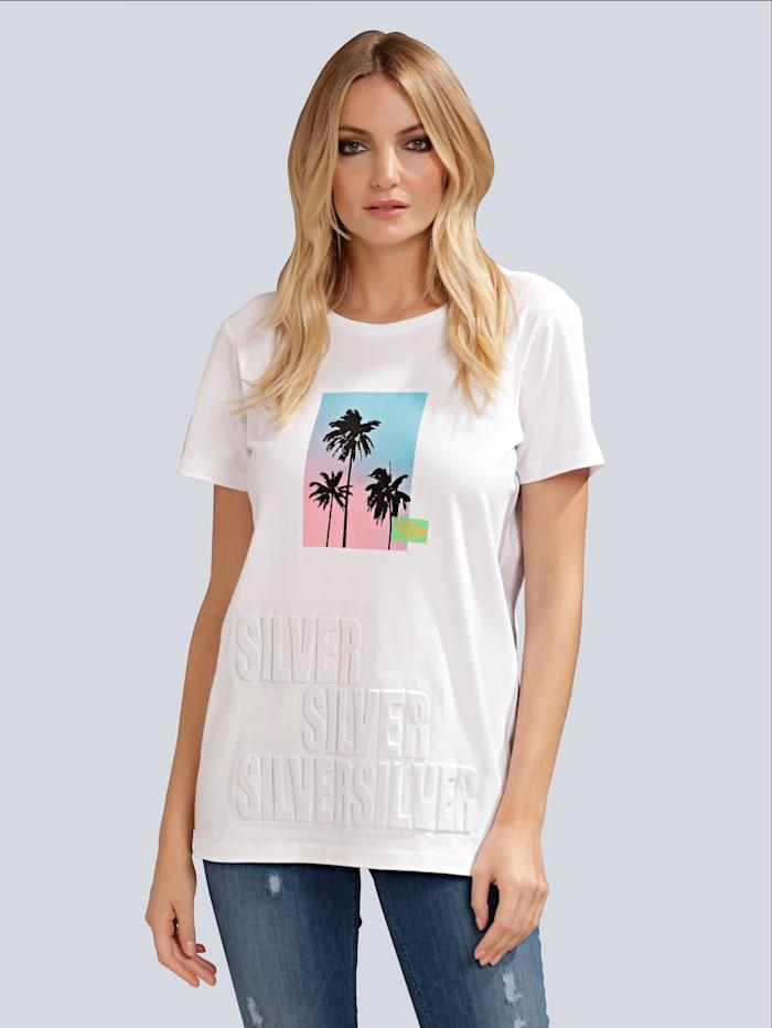 SPORTALM Shirt in oversized Form, Weiß