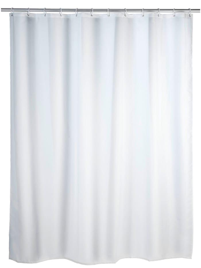Wenko Duschvorhang Uni Weiß, Textil (Polyester), 180 x 200 cm, waschbar, Weiß
