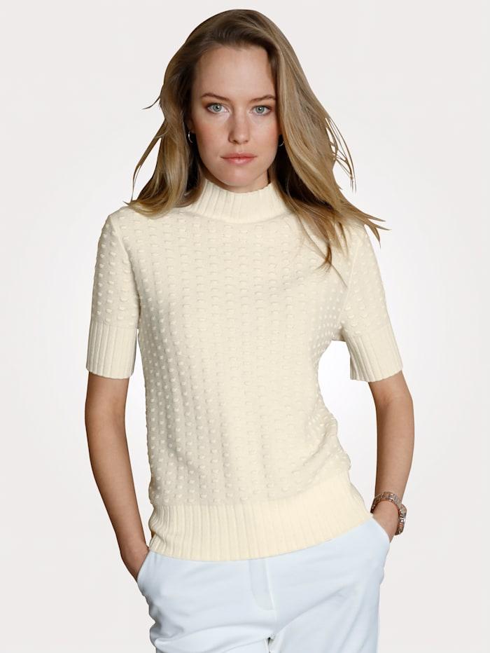 MONA Pullover mit Kaschmiranteil, Creme-Weiß