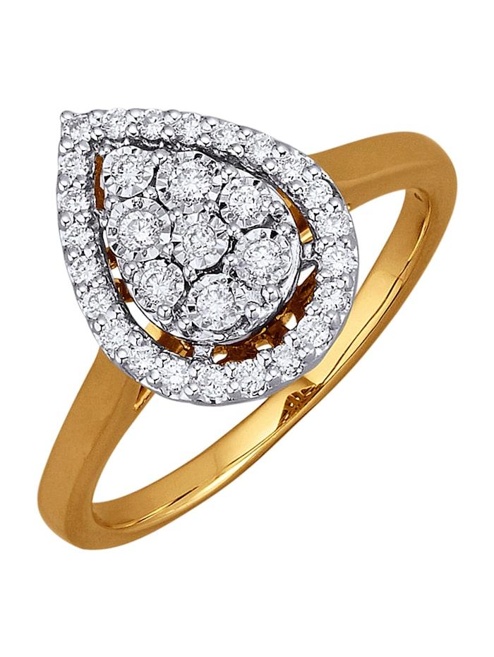 Diemer Diamant Damenring mit 31 Brillanten, Weiß