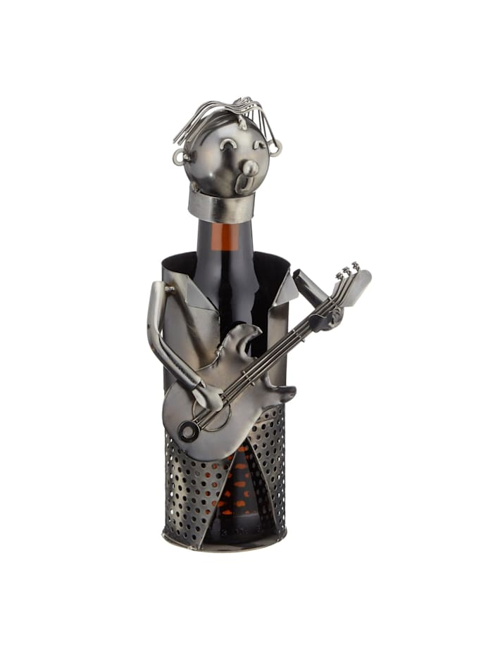 HTI-Living Bierflaschenhalter Gitarre, Silber
