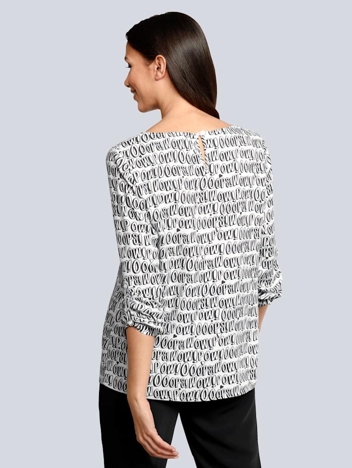 Bluse mit Wording-Print