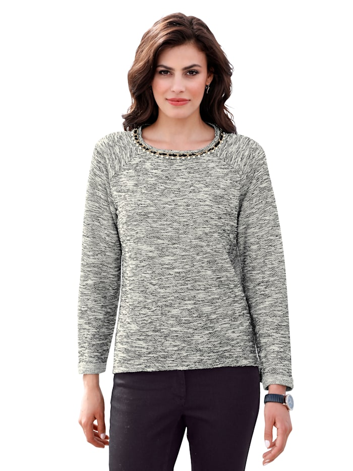 Sweatshirt mit dekorativer Kette am Ausschnitt