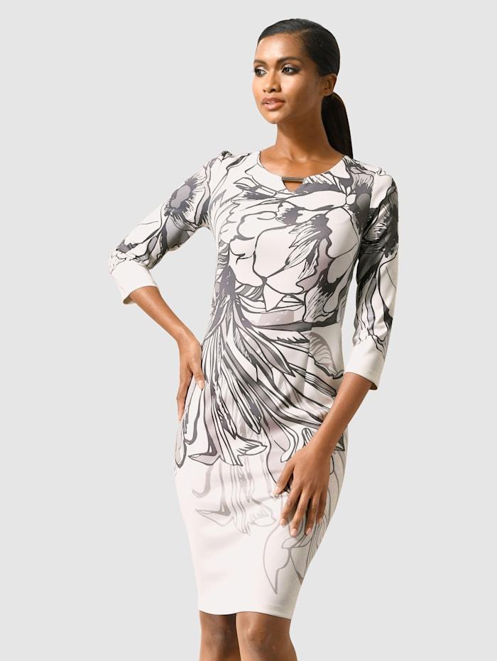 Alba Moda Painokuvioitu mekko, Harmaa