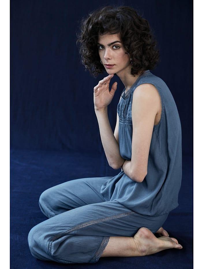 Pyjama-Hose mit Spitze