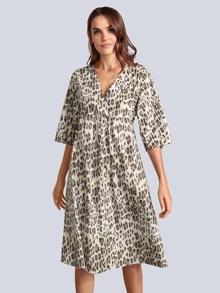 MARGITTES Kleid mit weitem Arm, Braun