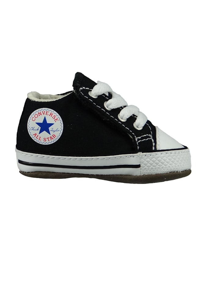 Converse Baby Chucks Schwarz Chuck Taylor All Star Cribster Canvas Color - Mid Black Natural Ivory White, Black Natural Ivory White