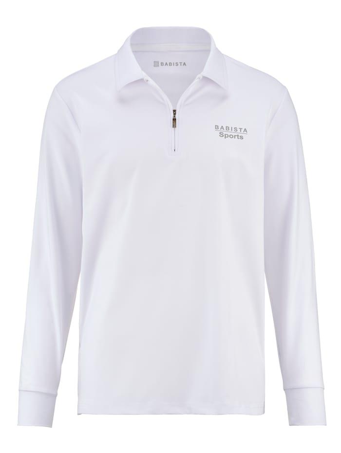 BABISTA T-shirt fonctionnel d'aspect polo, Blanc