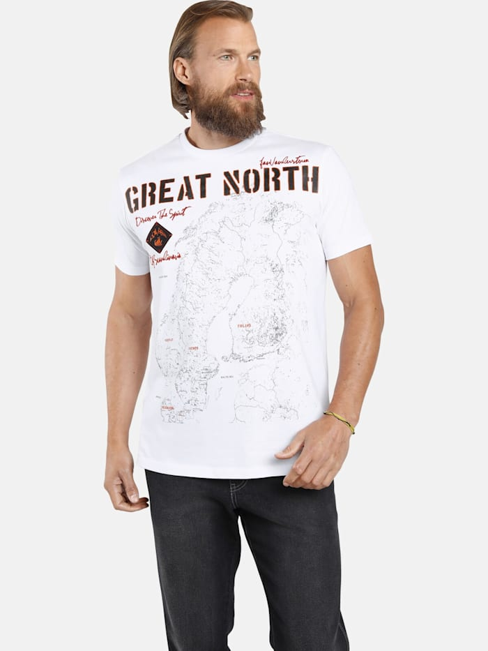 Jan Vanderstorm Jan Vanderstorm T-Shirt ARWED, weiß