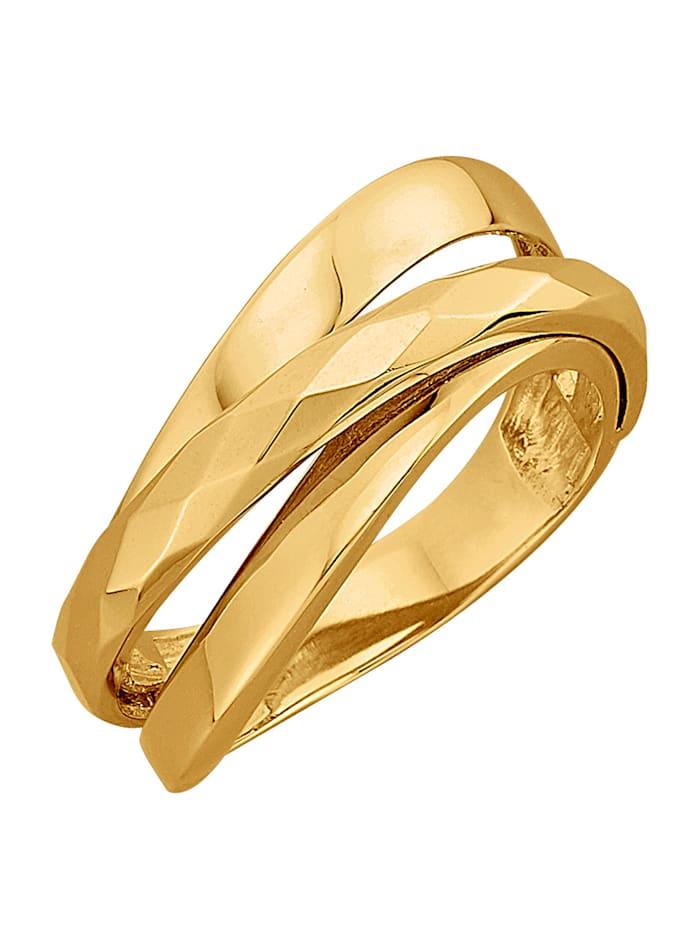 Diemer Gold Damenring Gelbgold 585, Gelbgoldfarben