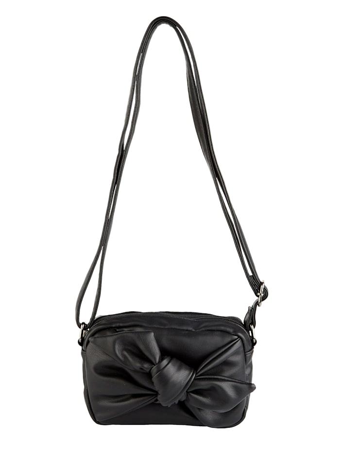 BERNARDO BOSSI Umhängetasche mit schöner Zierschleife, schwarz
