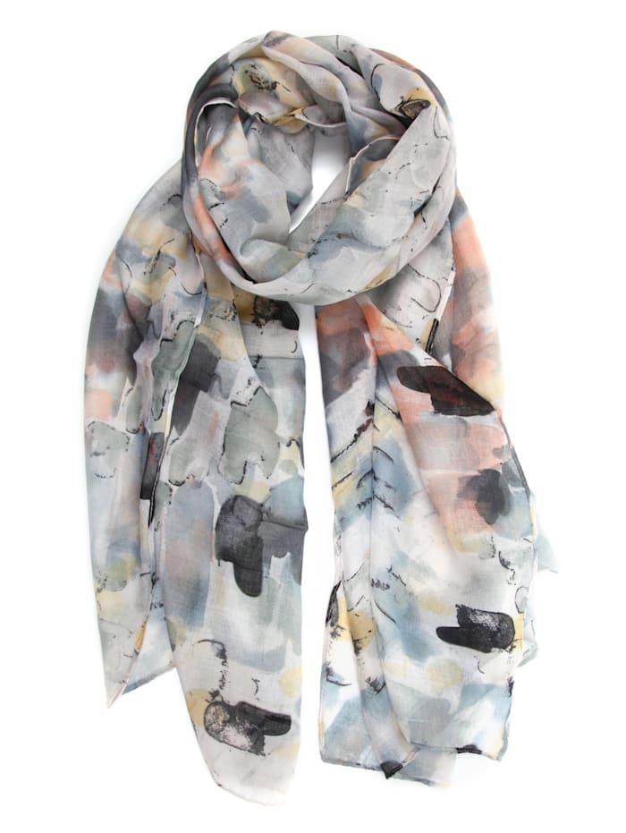 Collezione Alessandro Schal Philia mit tollen gedeckten Farben, grau