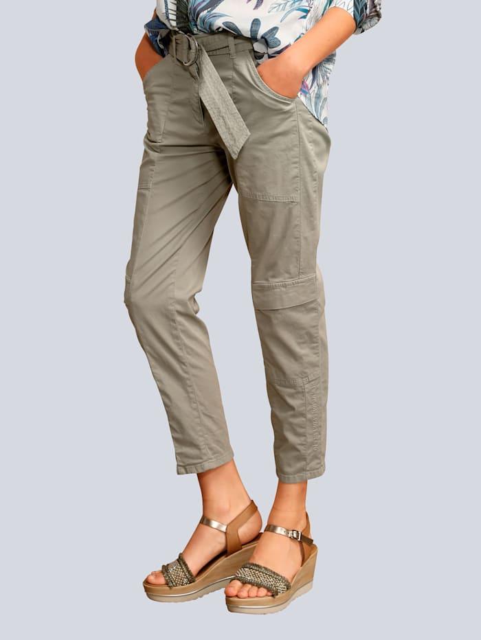 CAMBIO Hose mit Taschen am Bein, Khaki
