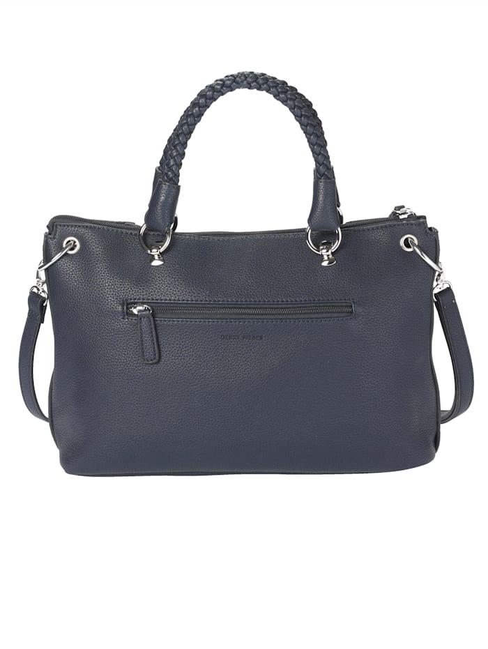 Handbag in a textured finish