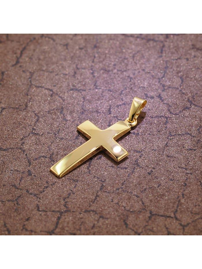 Kreuz-Anhänger 21 mm Gold 750 / 18 Karat